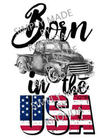 Born in the USA Sublimation Transfer