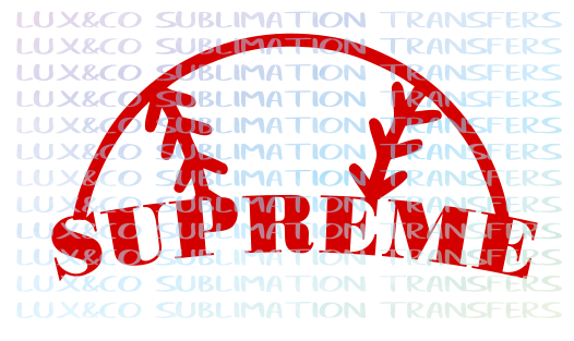 Supreme Baseball Sublimation Transfer