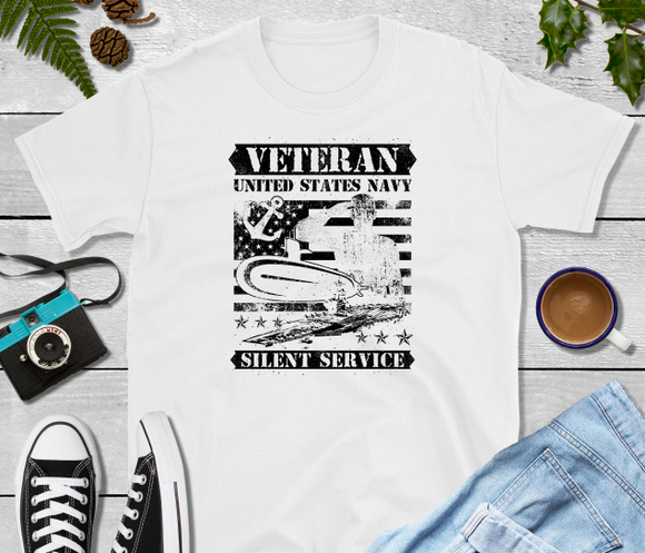 Veteran United States Navy Silent Service Sublimation Transfer