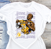 Lakers Kobe Bryant 24 Sublimation Transfer