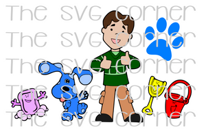 Blues Clues Group SVG File