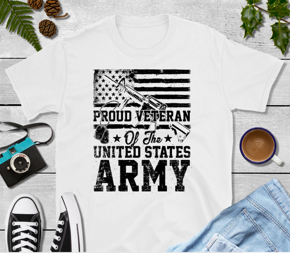 Proud Veteran of the United States Army Sublimation Transfer