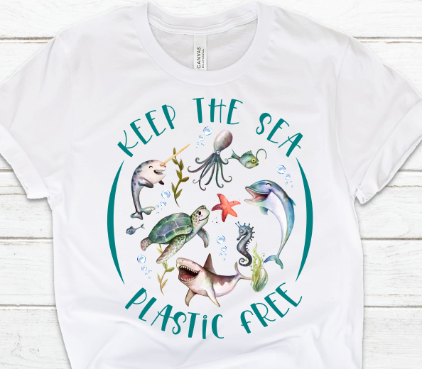 Keep the Sea Plastic Free Sublimation PNG Digital Design