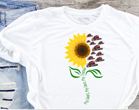 My Heart My Hero My Trucker Sunflower Sublimation PNG Digital Design