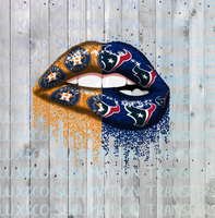 Astros Texans Football Dripping Lips Sublimation Transfer