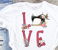 Love Sewing Sublimation PNG Digital Design