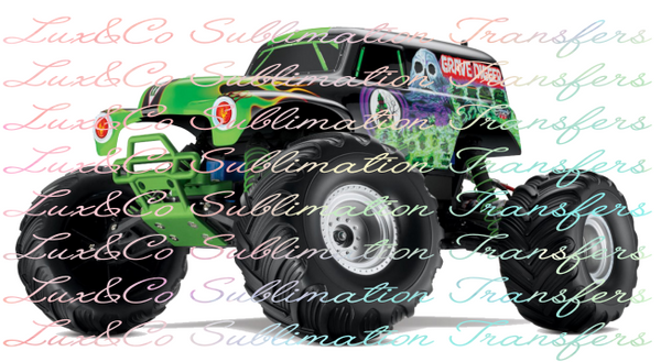Grave Digger Sublimation Transfer