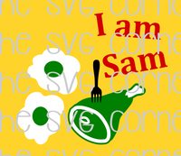 Dr. Suess I am Sam Green Eggs and Ham SVG File