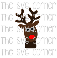 Reindeer Head Winter Christmas Holiday SVG File