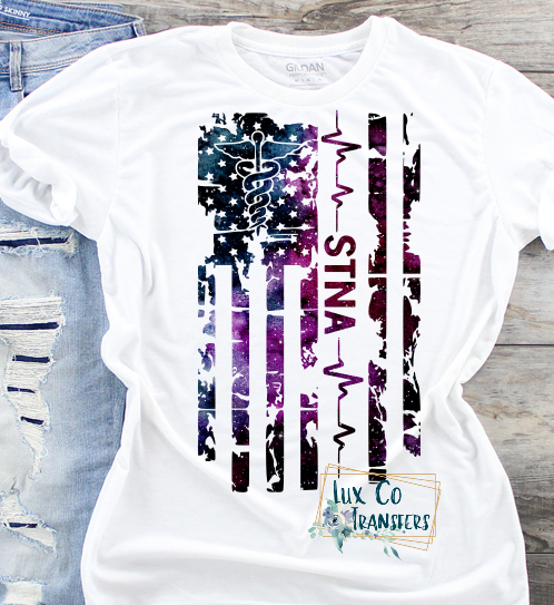 STNA Galaxy American Flag Sublimation Transfer