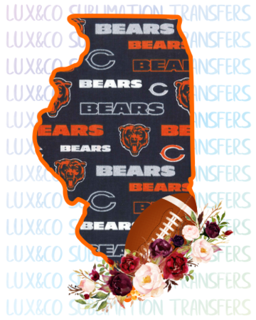 Illinois Chicago Bears PNG Sublimation Digital Download