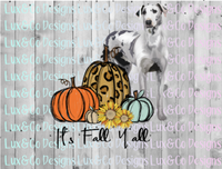 Its Fall Yall Cheetah Sunflower Dog Great Dane Sublimation Transfer