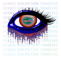 Florida Gators Glitter Eye Sublimation Transfer