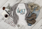 Oh Holy Night Chritmas Sublimation Transfer