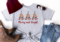 Merry and Bright Christmas Trees Sublimation Transfer