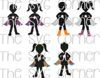 Superhero Kids SVG File