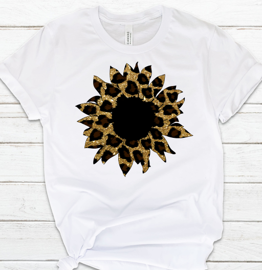 Sunflower Cheetah Leopard Sublimation Transfer