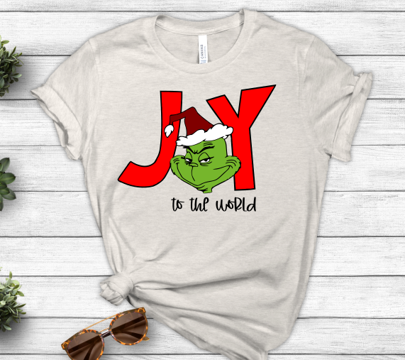 Joy to the World Grinch Christmas Holiday SVG File