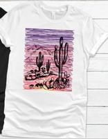 Cactus Desert Sunset Sublimation Transfer