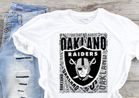 Oakland Raiders Sublimation Transfer