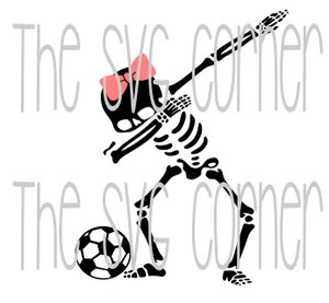 Dabbing Skeleton Soccer SVG File