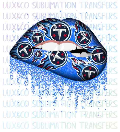 ***SALE*** Tennessee Titans Football Dripping Lips Sublimation Transfer