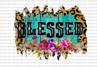 Blessed Floral Cheetah Sublimation Transfer