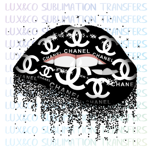 Chanel Dripping Lips Sublimation Transfer