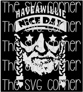 Have A Willie Good Day Nelson SVG File