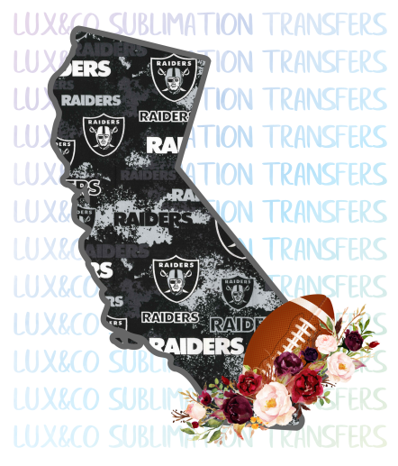 California Raiders PNG Sublimation Digital Download