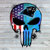 Panthers Skull Football American Flag Sublimation Transfer
