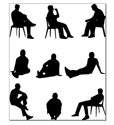 Lounging Man SVG File