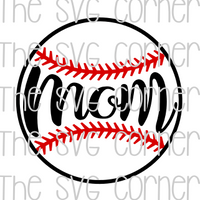 Baseball Mom SVG File