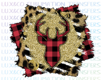 Buffalo Plaid Deer Christmas Sublimation Transfer