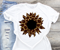 Sunflower Giraffe Sublimation PNG Digital Design