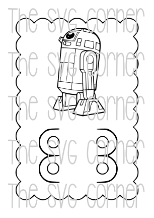STAR WARS VALENTINE CRAYON CARD SVG FILE
