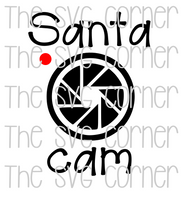 Santa Cam Winter Christmas Holiday SVG File