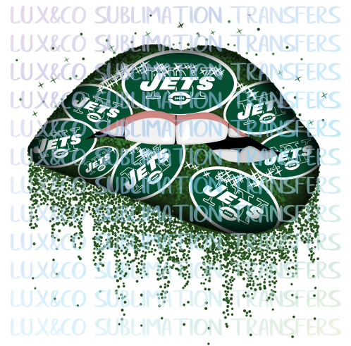 ***SALE***  NY Jets Football Dripping Lips Sublimation Transfer