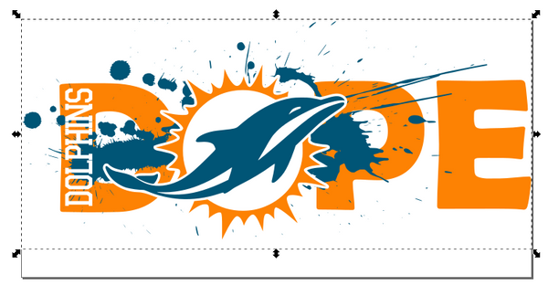 Miami Dolphins Football DOPE SVG PNG Digital Design