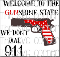 Welcome to the Gunshine State Florida SVG File