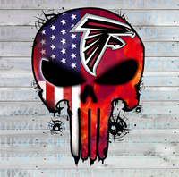 Falcons Punisher Skull Football American Flag Sublimation Transfer