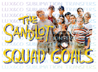 The Sandlot Squad Goals Sublimation Transfer