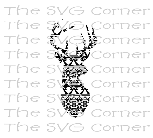 Aztec Deer SVG File