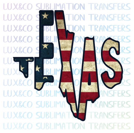 Texas American Flag Sublimation PNG Digital Design