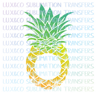 Pineapple Monogram Sublimation Transfer