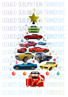 Camaro Christmas Tree Sublimation Digital Design PNG File