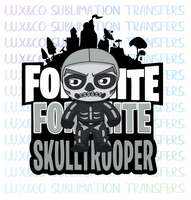 Fortnite Skulltrooper Sublimation Transfer