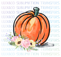 **SALE** Floral Pumpkin Sublimation Transfer