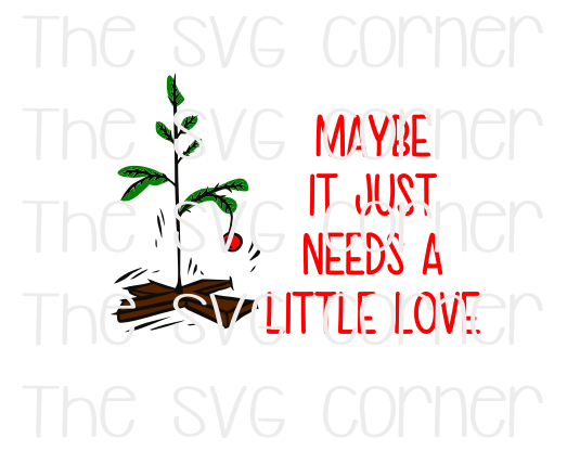 Charlie Brown Tree Winter Christmas Holiday SVG File