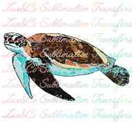Summer Turtle Sublimation Transfer